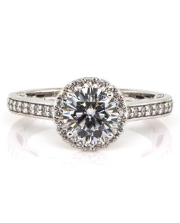 moissanite halo ring (1 of 1)